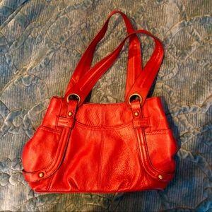 Tignanello Dark Red Leather Bag Purse